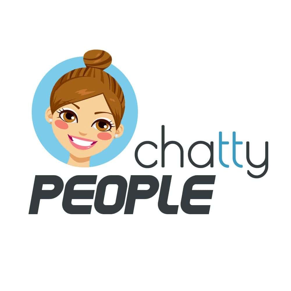 chatty people logo chatbot como crear un chatbot desde cero como crear un chatbot