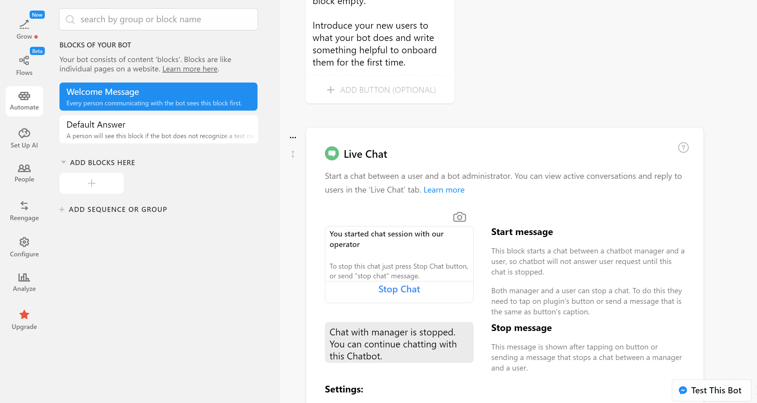 chatfuel live chat como crear un chatbot desde cero como crear un chatbot