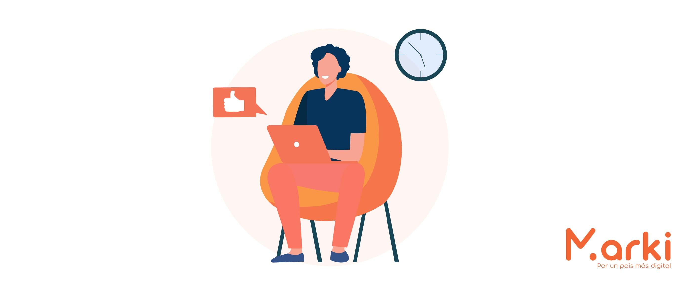 joven en laptop analítica de redes sociales metricas de redes sociales gestor de redes sociales gratis herramientas para redes sociales gratuitas habilidades digitales asesorías de marketing digital Desarrollo de habilidades digitales voluntarios universitarios voluntariado peru Voluntariado online capacitacion de marketing digital voluntariado marki