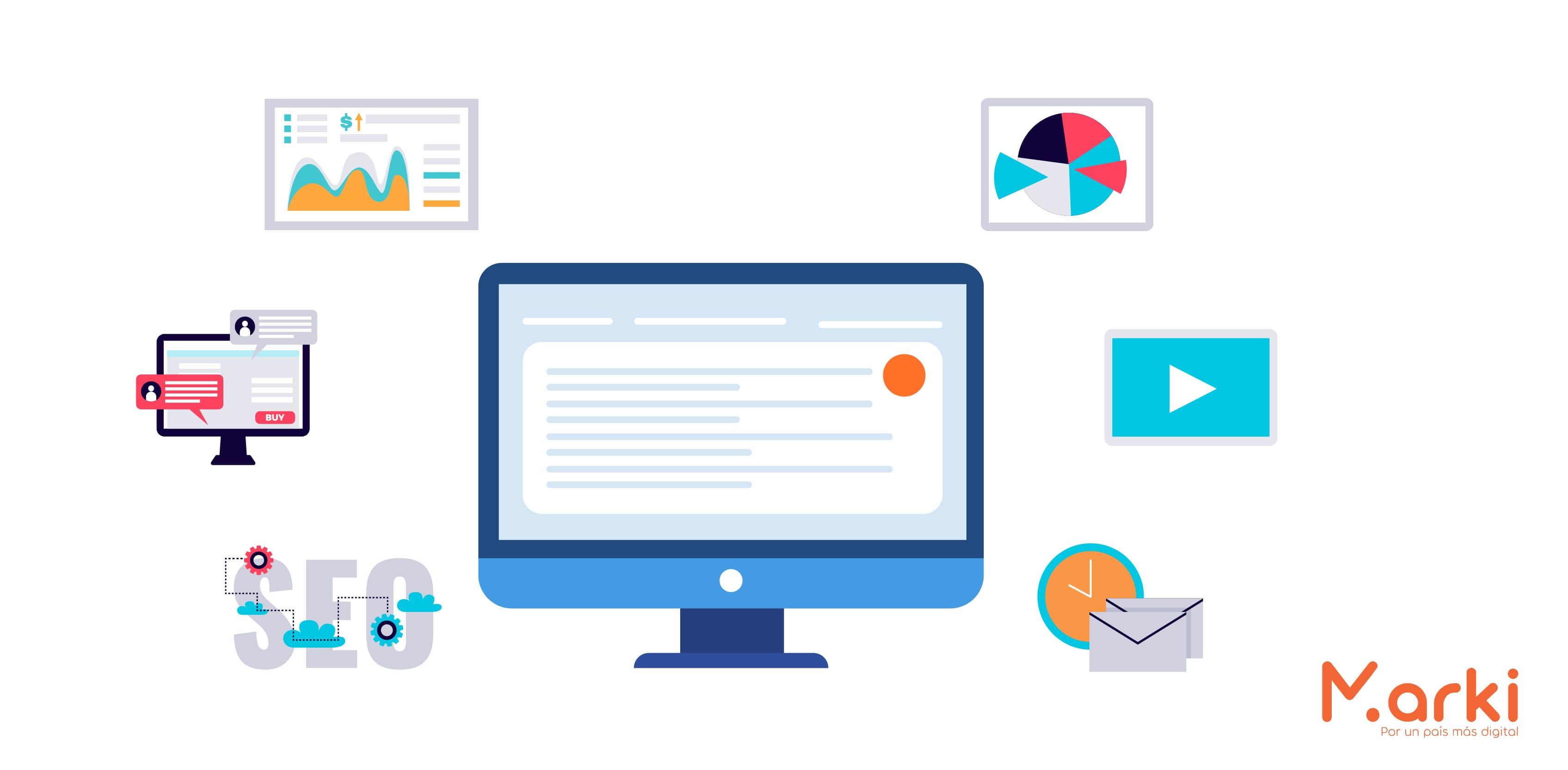 computadora azul evolucion del marketing digital la evolucion del marketing digital la nueva era digital como surgio el marketing digital los negocios en la era digital voluntarios universitarios voluntariado peru voluntariado online voluntariado marki