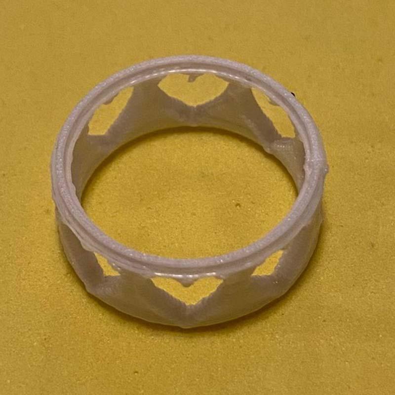 3D Printing Heart Ring