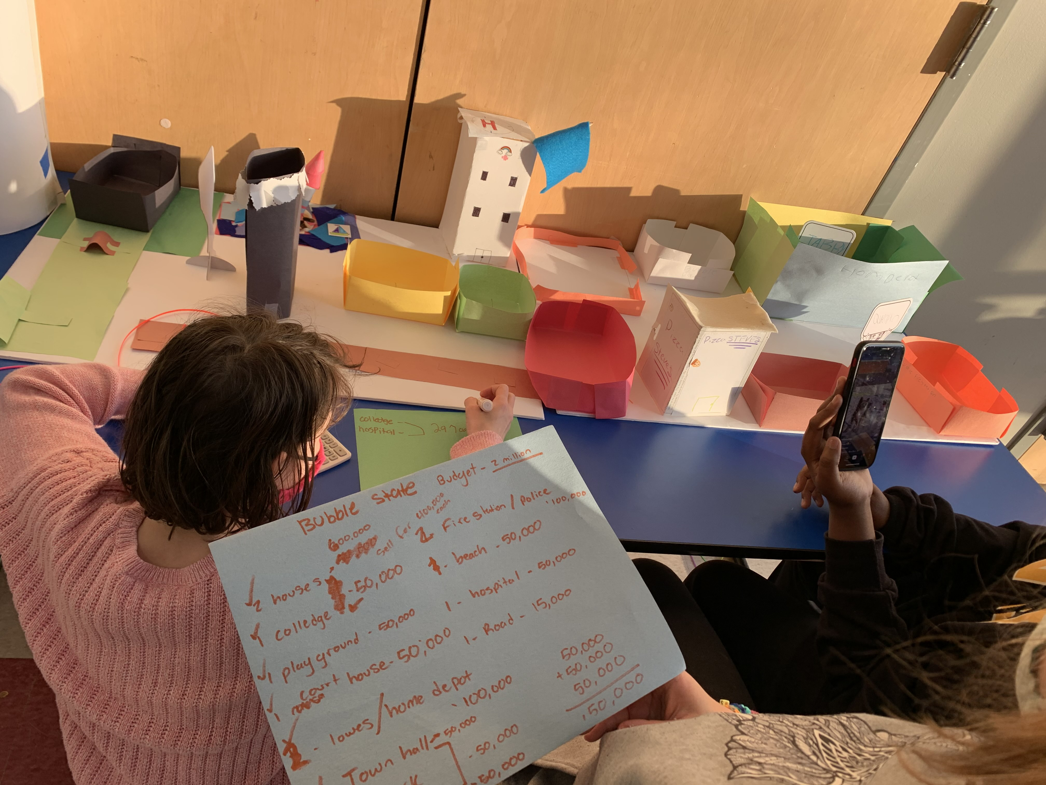 Teacher & Student doing activity