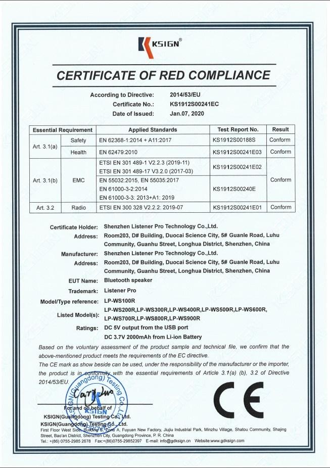 Listener Pro CE Certification