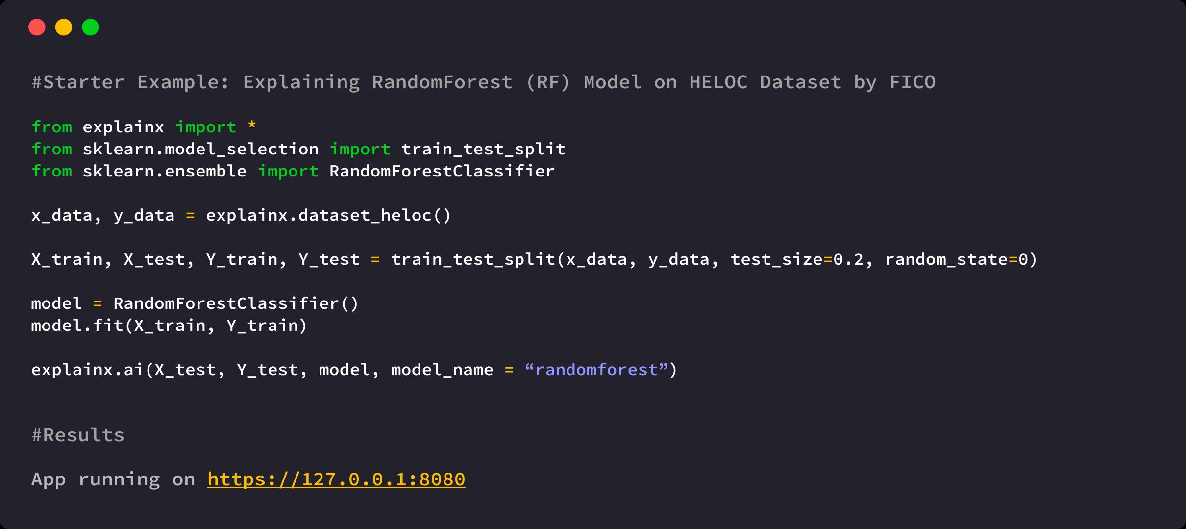 Explain random forest Model on HELOC Credit Lending dataset by FICO by using explainx explainable AI framework