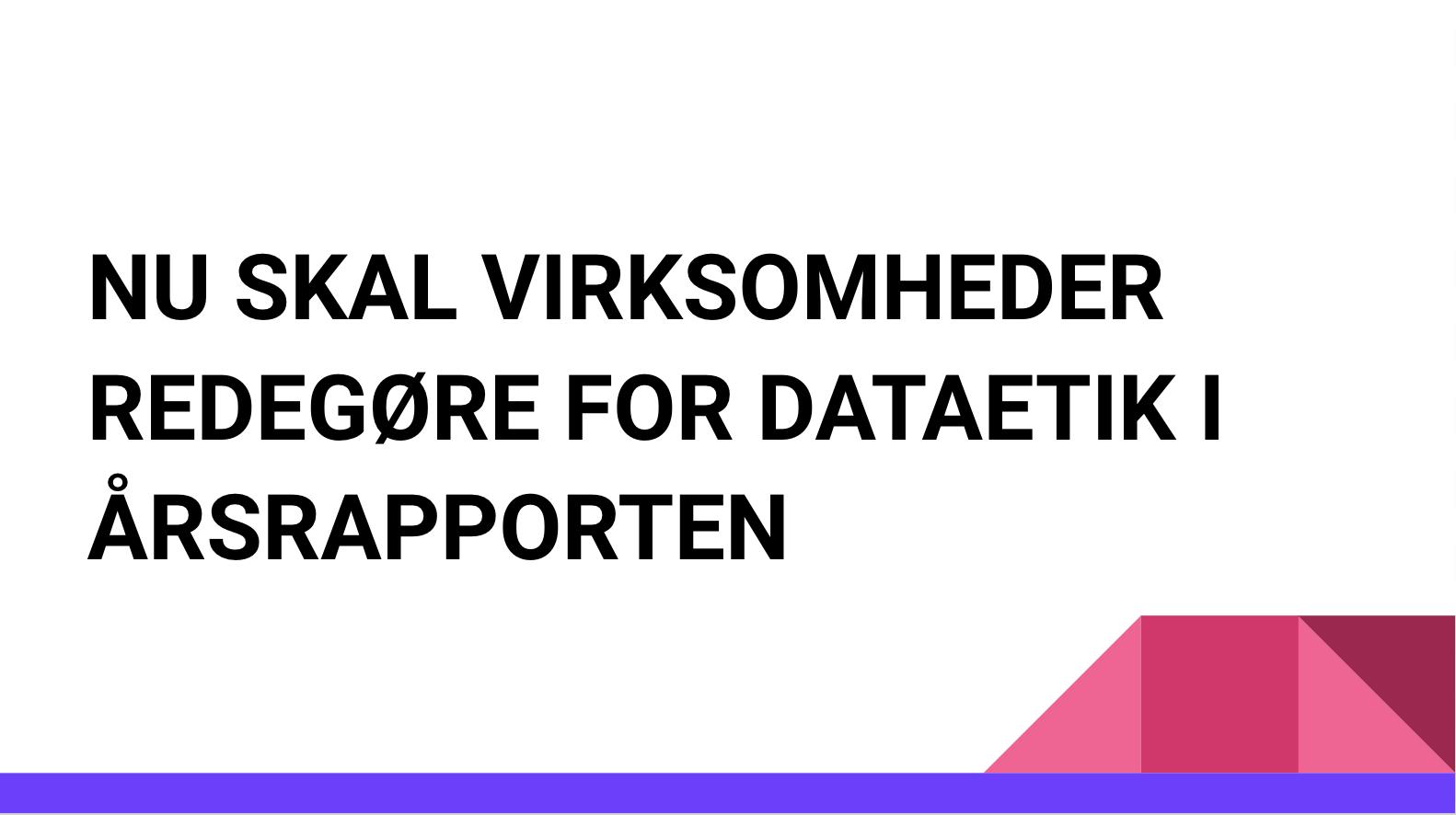 mandatory legislation for AI & data ethics introduced in Denmark