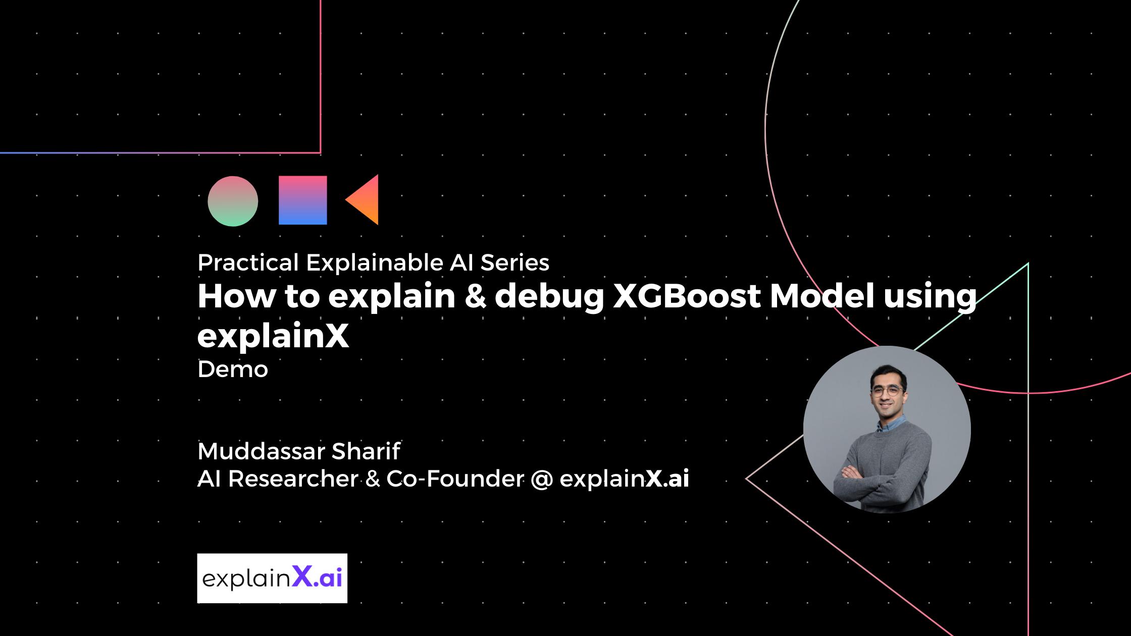 Learn how to explain and debug a blackbox XGBoost model with explainX.ai explainable AI