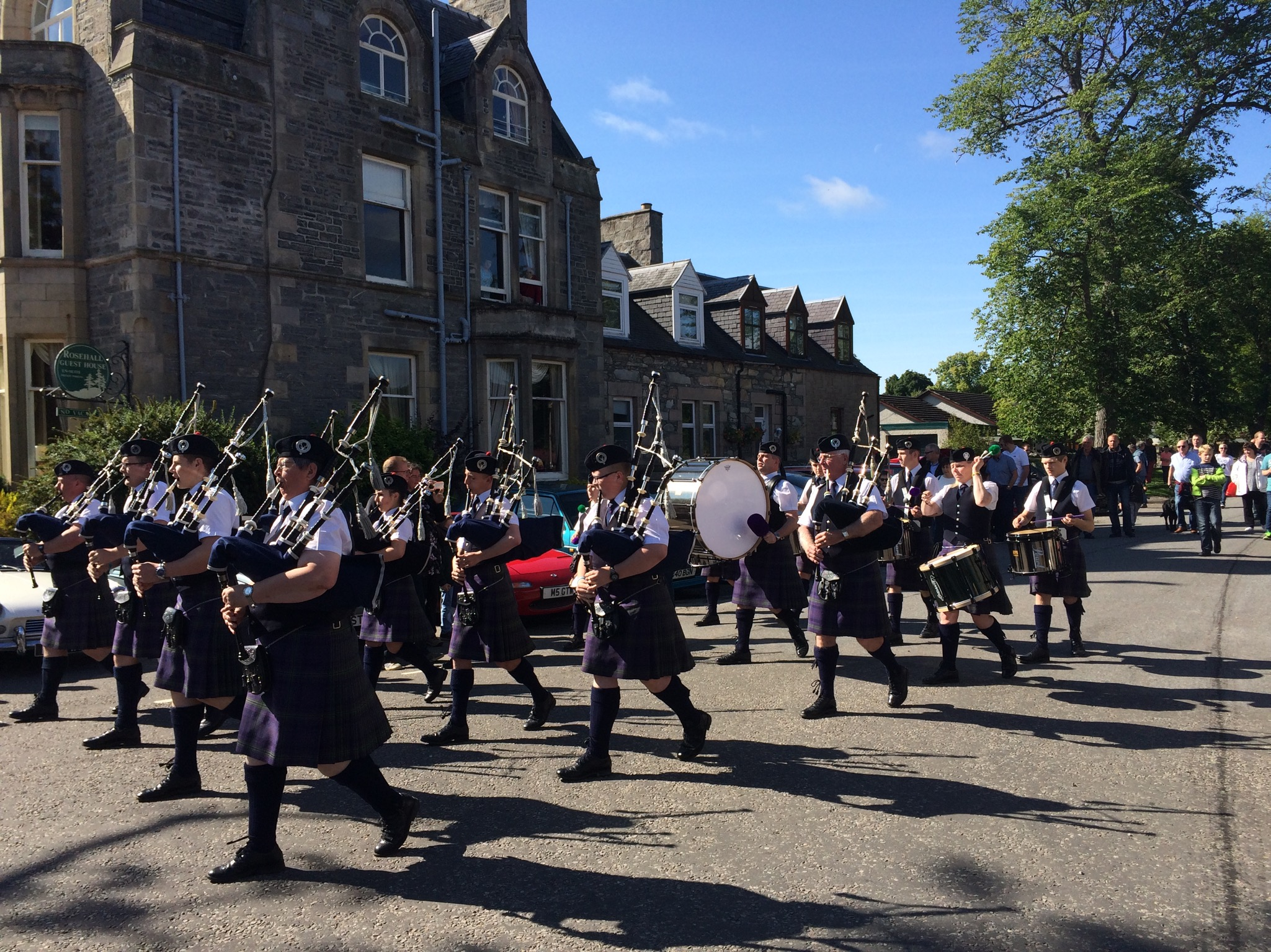 Pipe band in Grantown on Spey