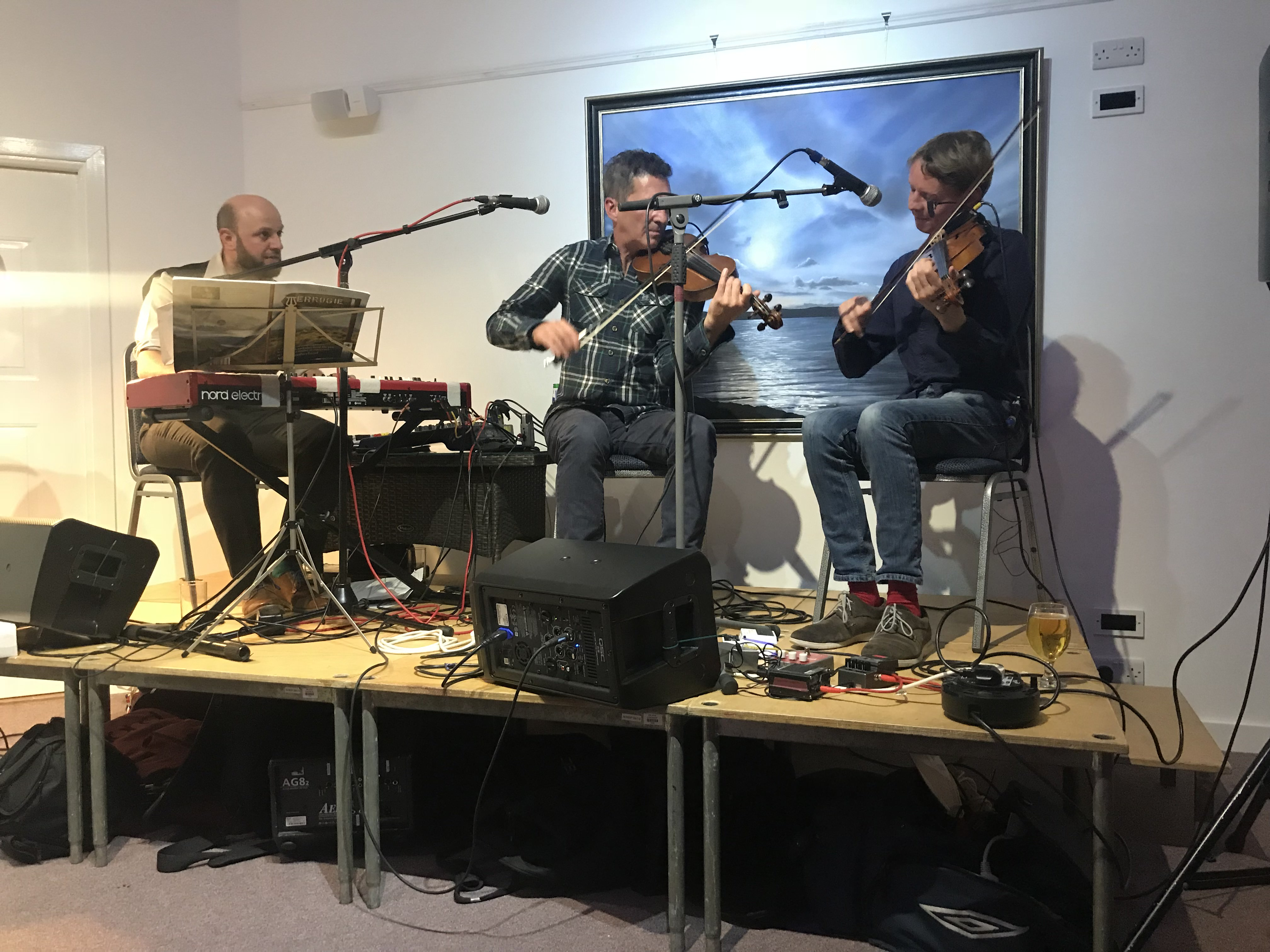 Local musicians playing Scottish music