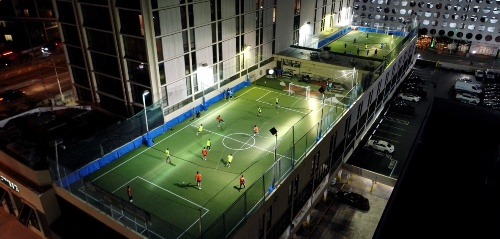 Soccer Rooftop Brickell Fields in Miami, FL