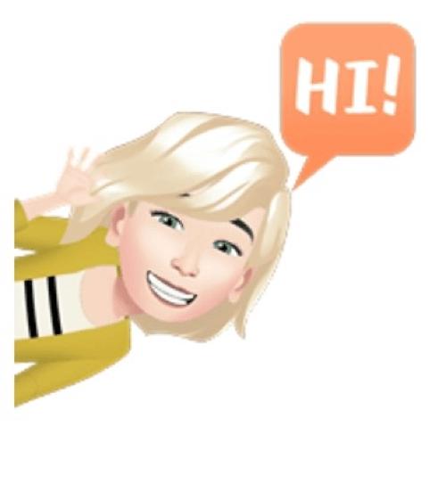 Avatar de Profesora saludando