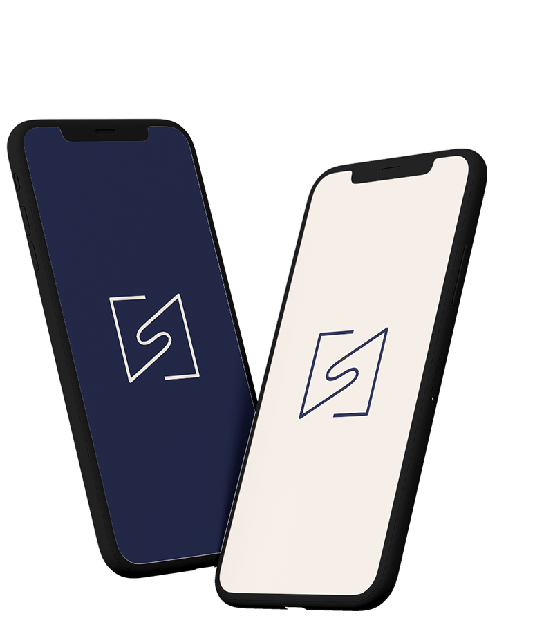 Two phones, with the Select NZ logo on them, floating in midair