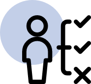 image of person's right and wrong icon