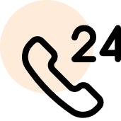 image of the call after 24 hours icon