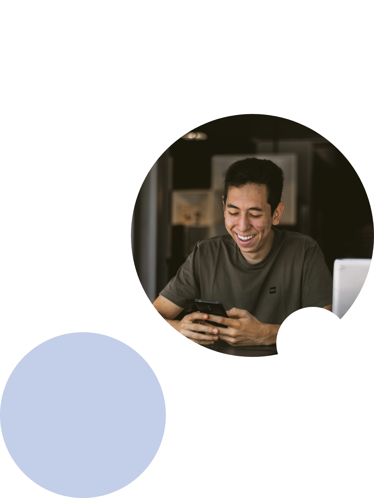 image of a man smiling while texting 2