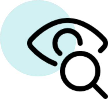 image of an eye and search bar icon