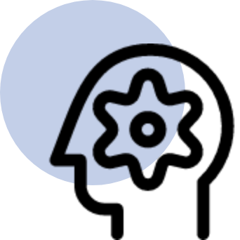 image of an animated icon of a mind