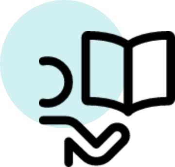 image of knowledge and learning animated icon