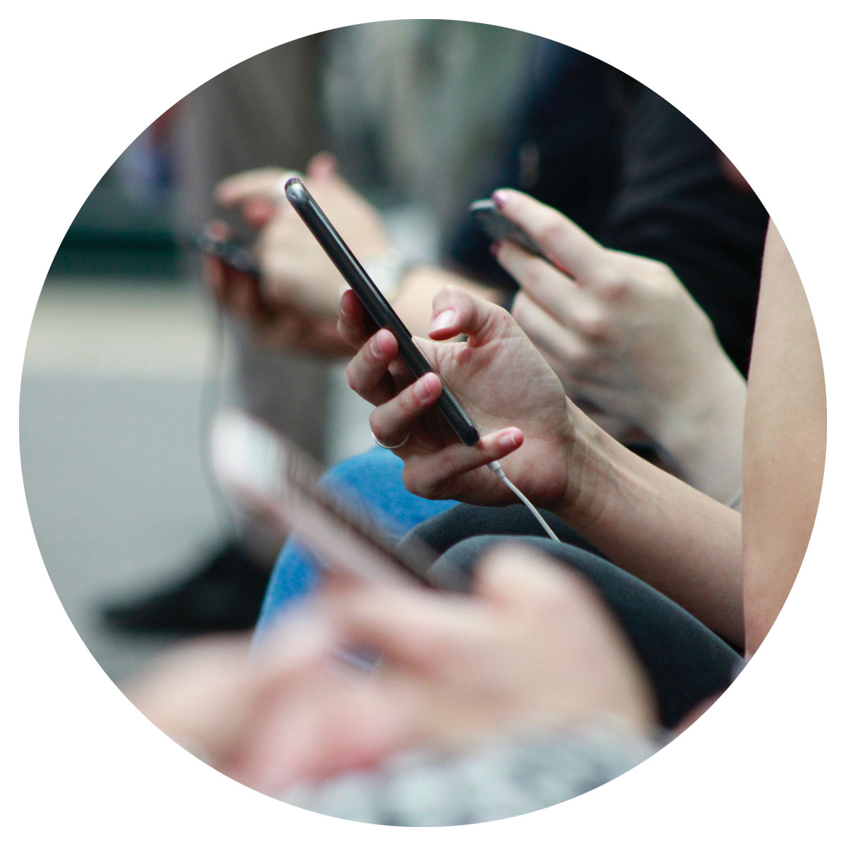 image of hands holding cellphone