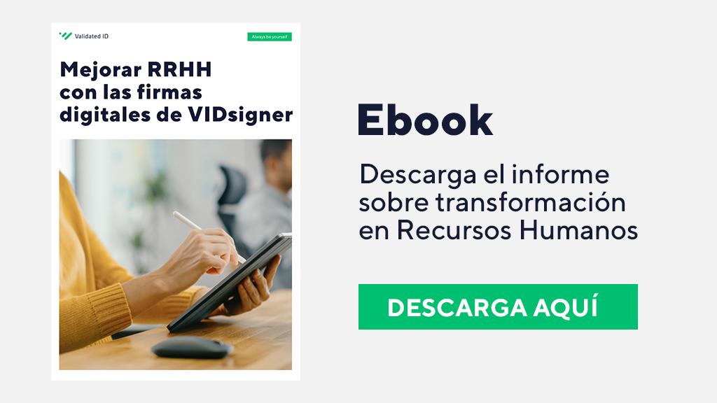 Firma electrónica en Recursos Humanos