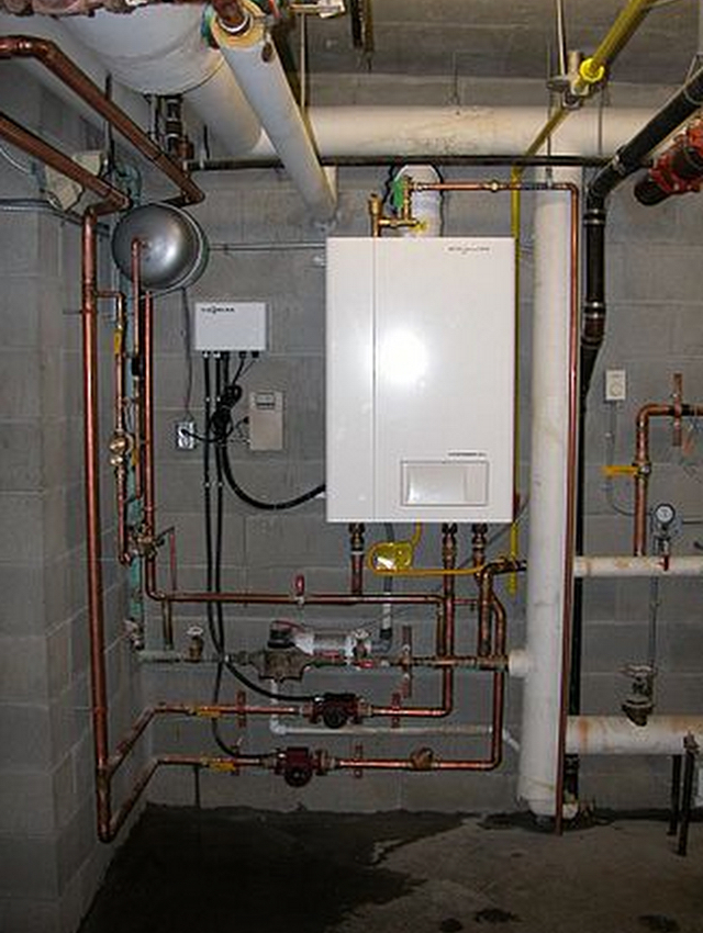 Green Heating and Air Commerical Boiler Installation