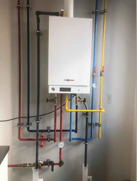 Green Heating and Air Viessmann Boiler installation