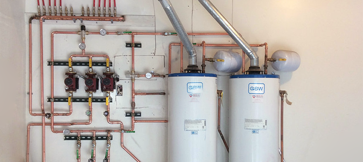 Commerical hot water tank