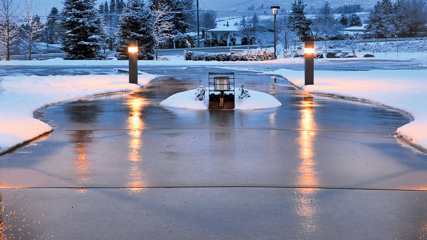 Large Heated Driveway using Watts System