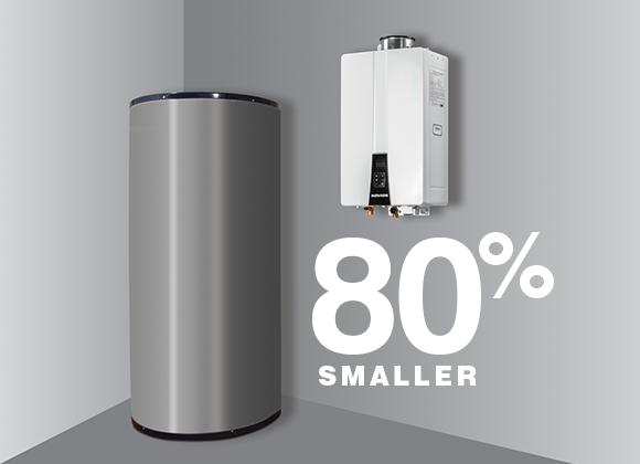 Navien Boiler 80% Smaller