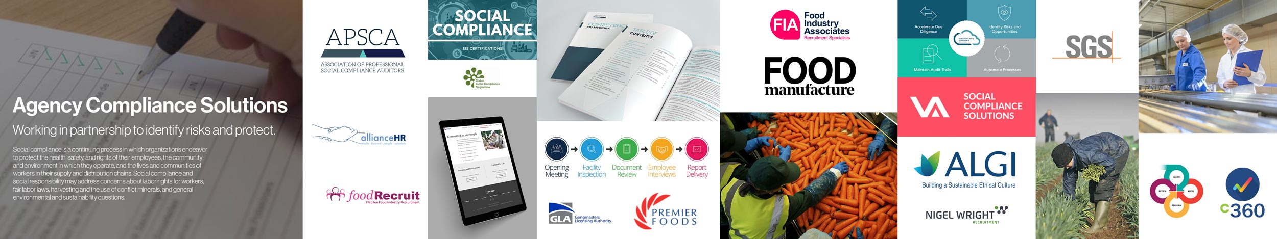 Agency Compliance Solutions logo design project Stylescape