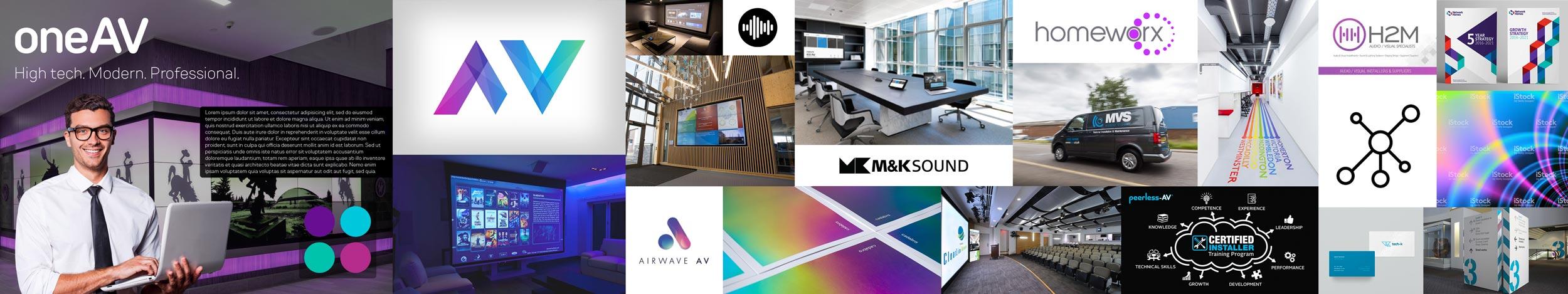 OneAV logo design project Stylescape