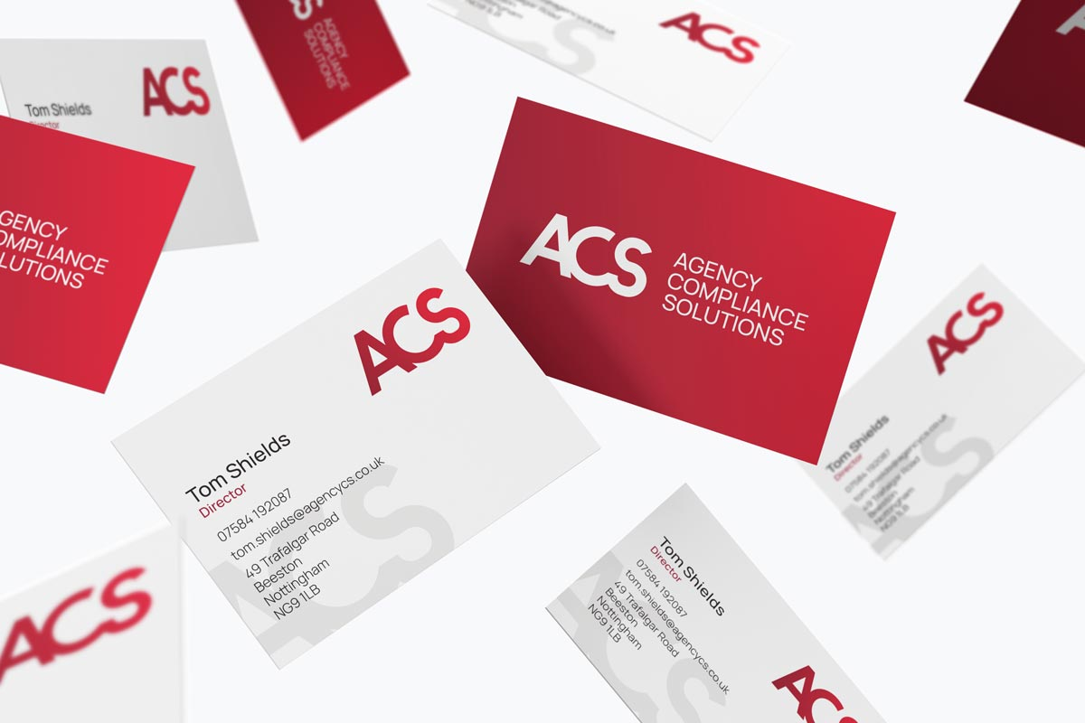 Agency Compliance Solutions business cards design