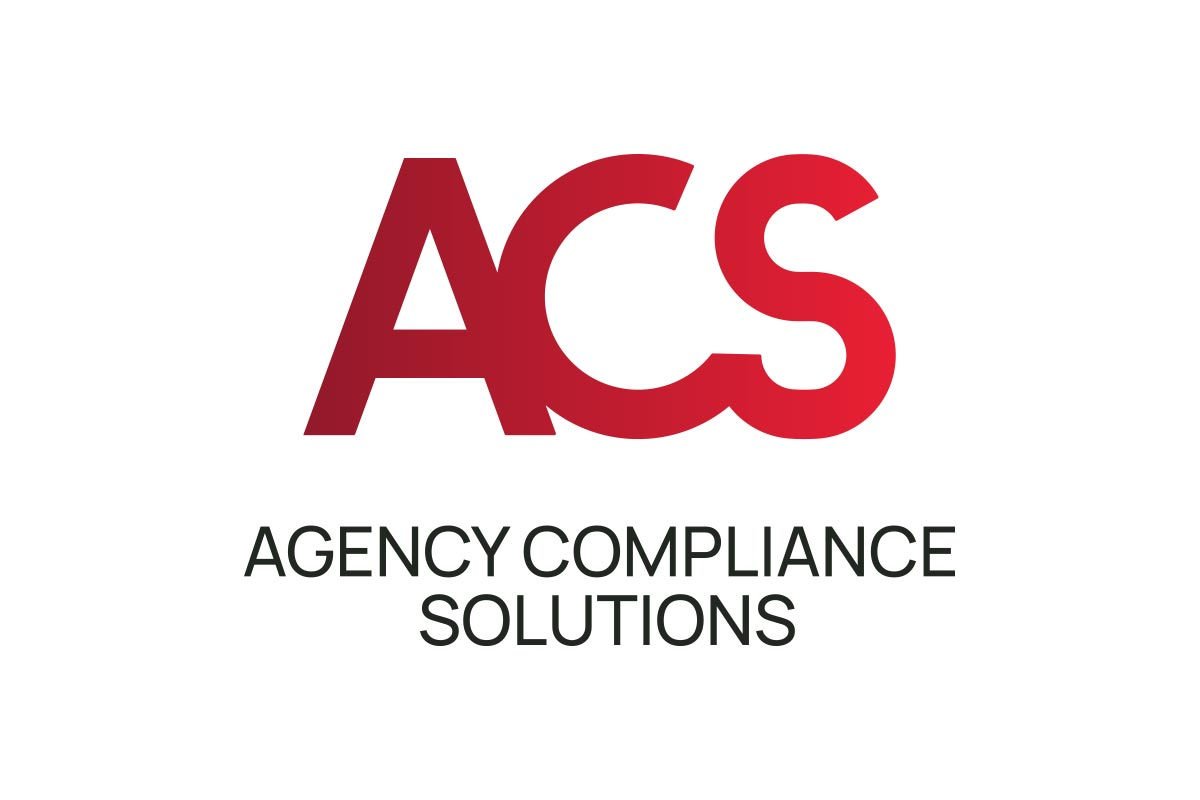 Agency Compliance Solutions Logo - Full colour stacked version on white background