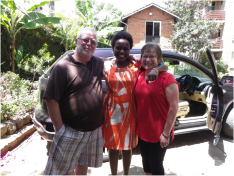 Gil, Irene, Mae at Woodmere Apartments in Nairobi.