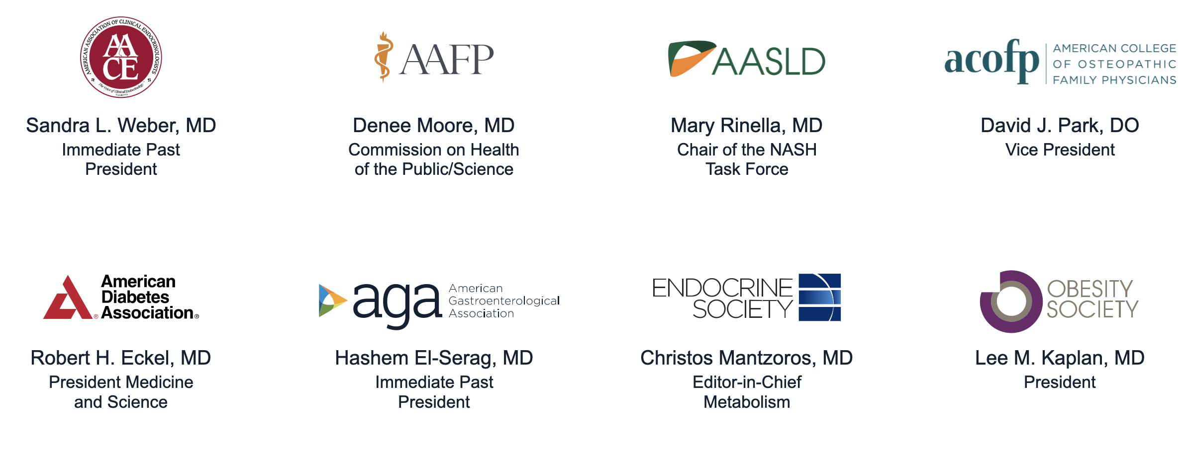 Logo grid of AGA NASH sponsors