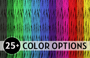 25+ color options available