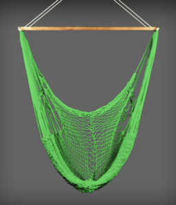 Deluxe size hammock chair in lime green