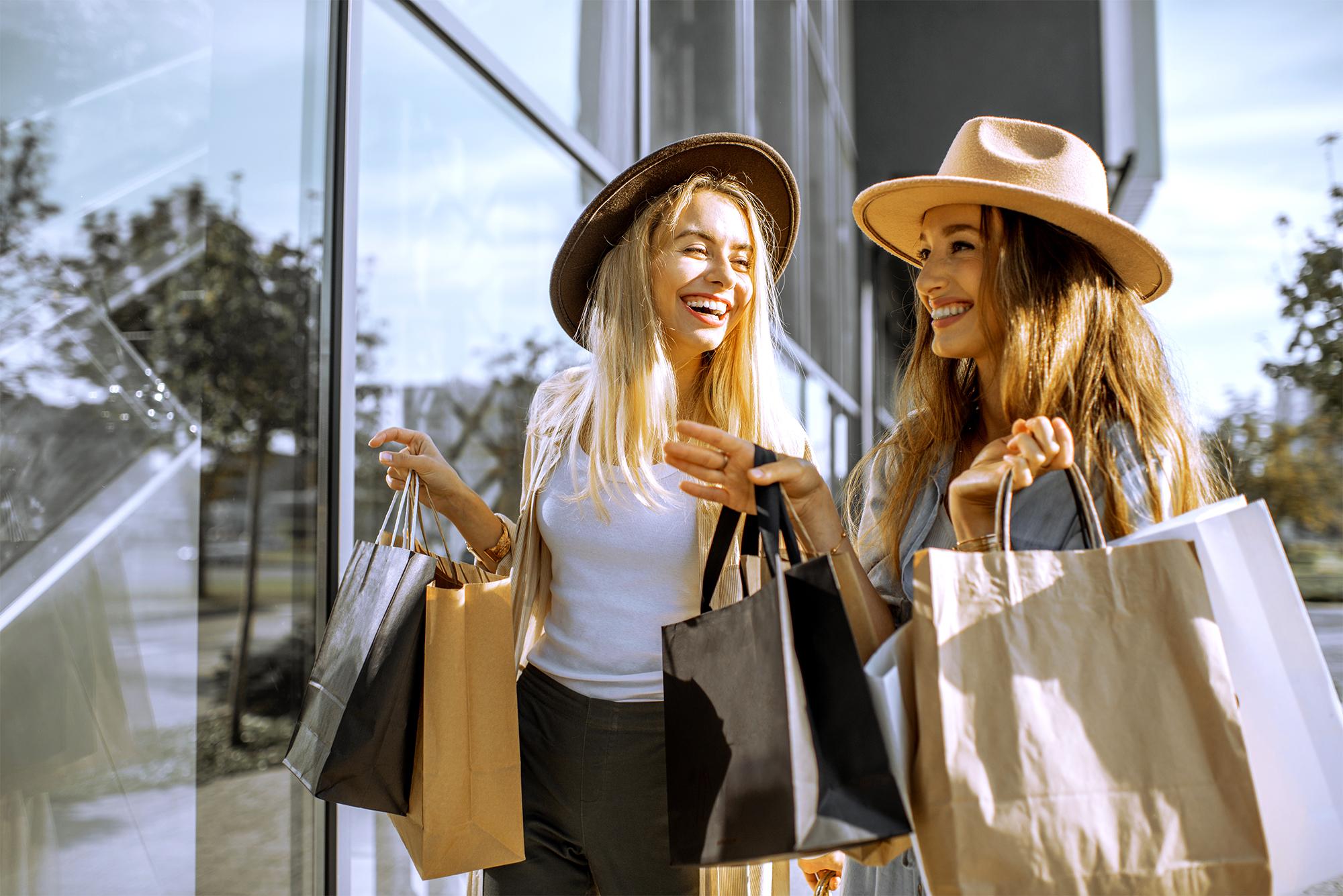 Berkeley Building Co. New Home Communites Hero image of two women shopping.