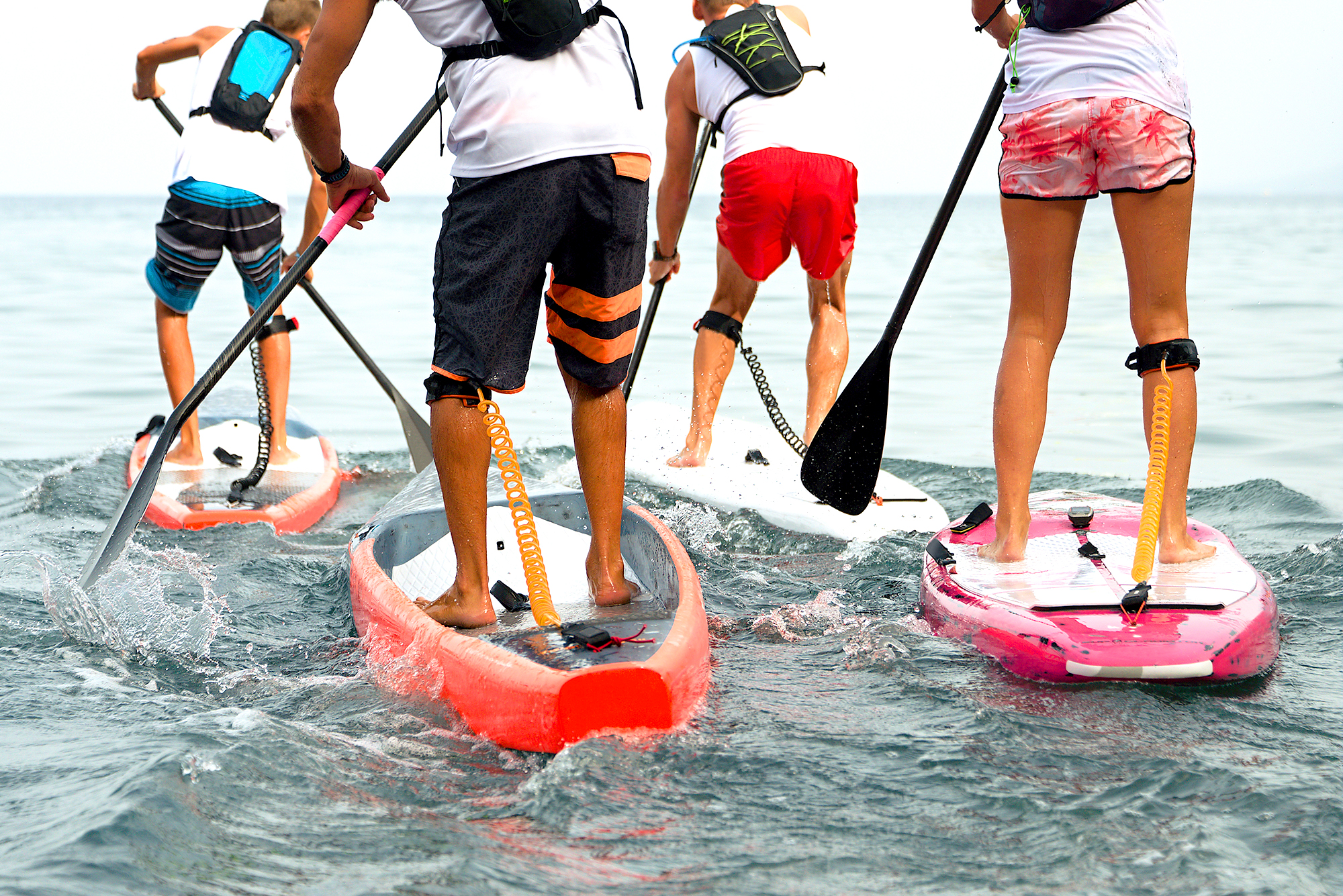 Berkeley Building Co. New Home Communites Hero image of paddle boarders.