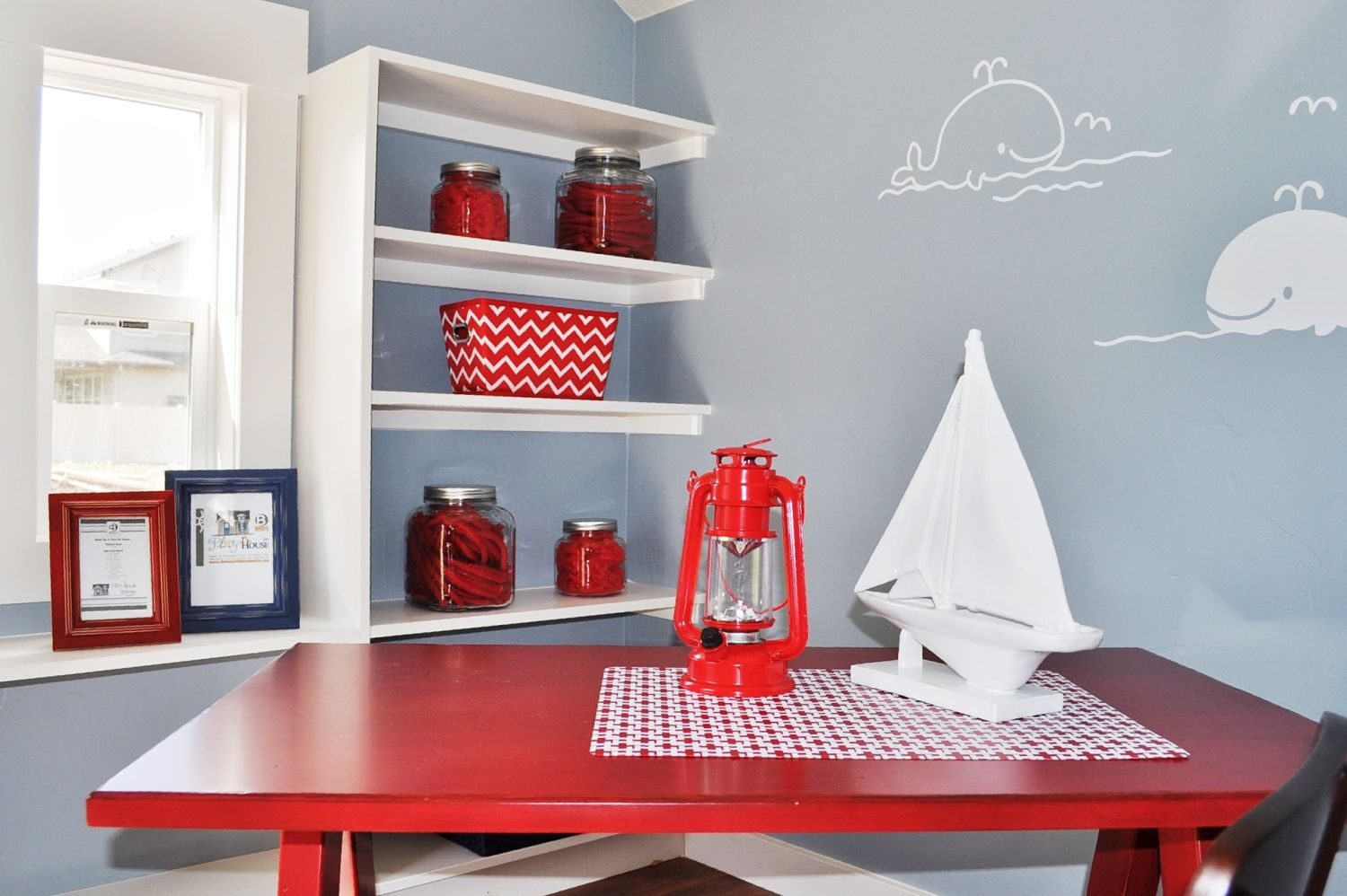 Image of child's table inside Make a wish tiny home.