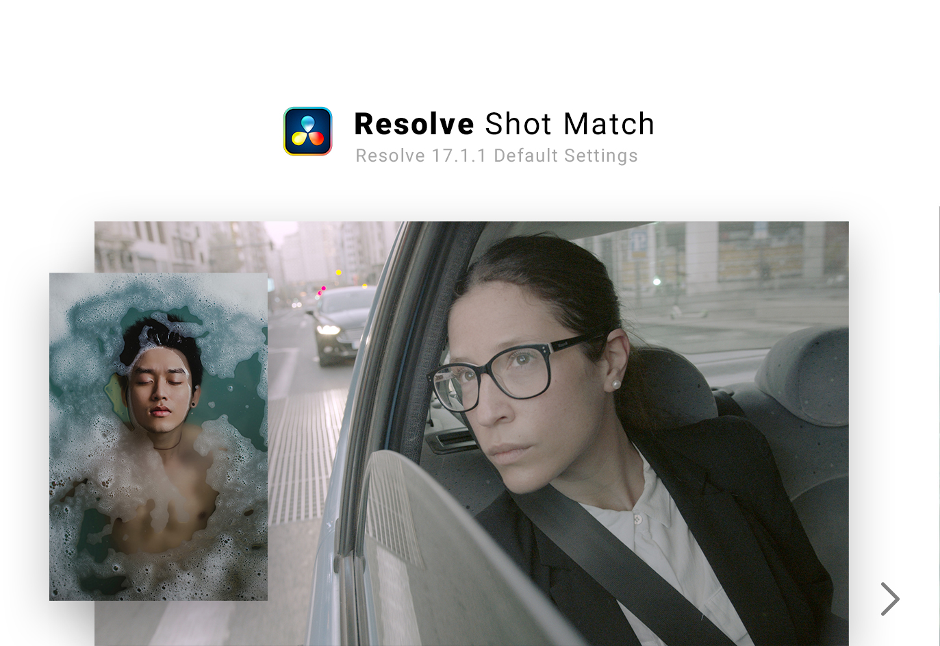 Davinci Resolve Shot Match Feature for Color Grading automatically