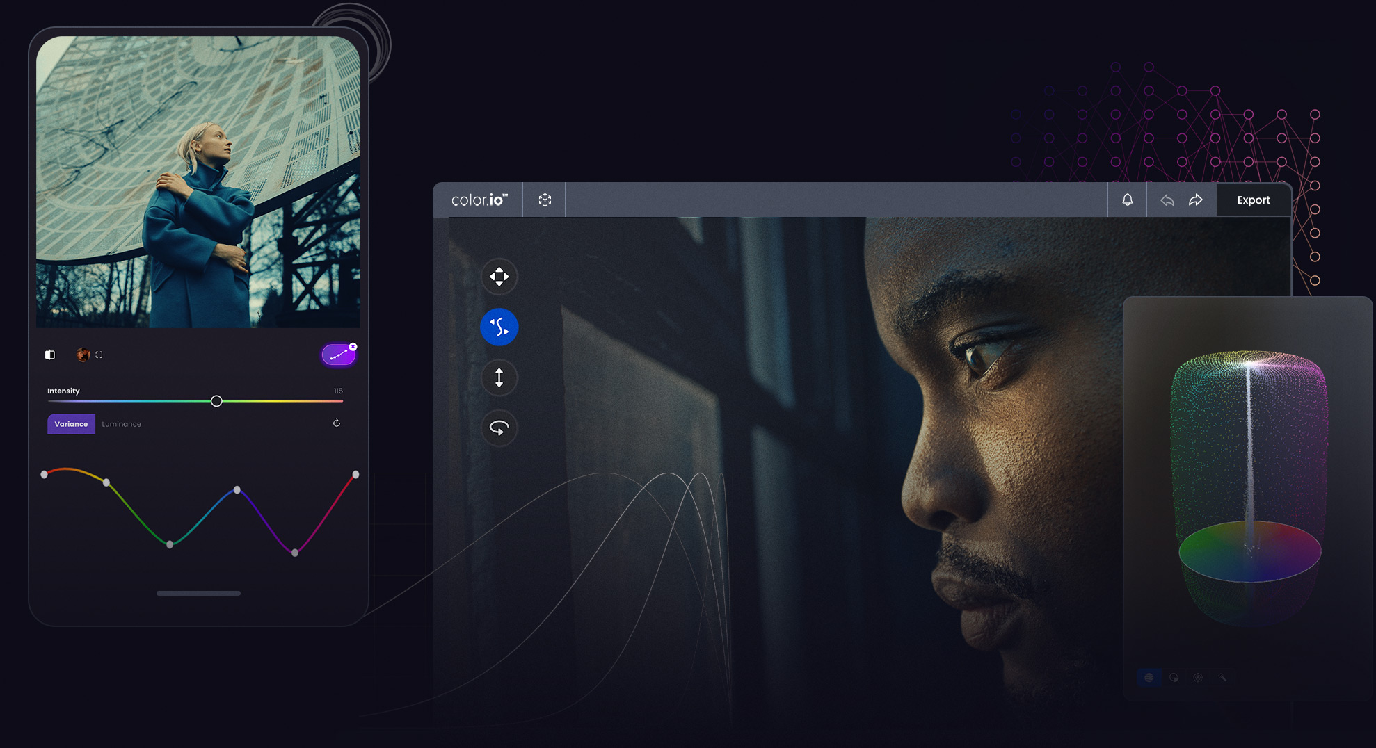 Color.io - Innovative Color Grading Software powered by Artificial Intelligence