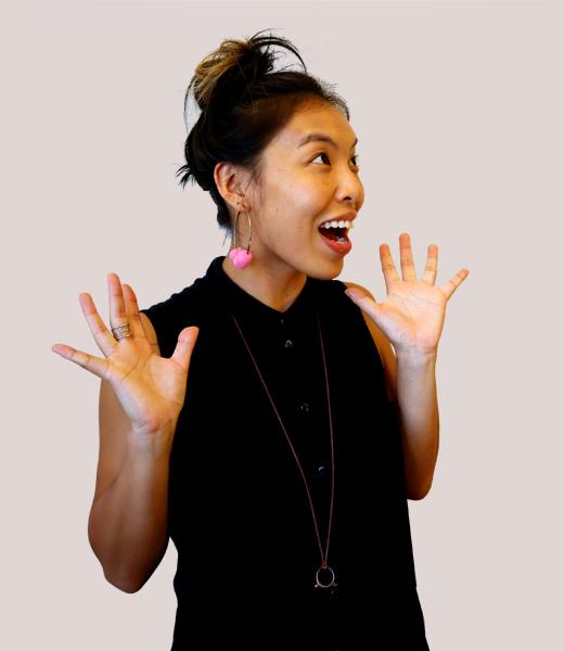 Funny portrait photo of Wai-Jing Man, Service Designer at MAKE Studios Hong Kong.