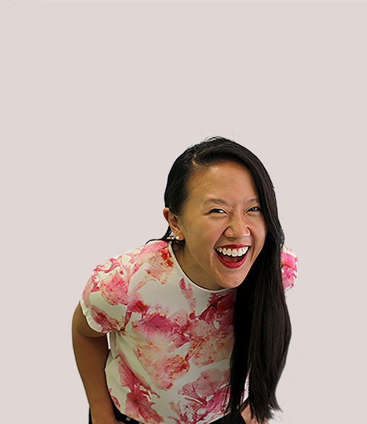 Funny portrait photo of Kristin Mark, Service Designer at MAKE Studios Melbourne.