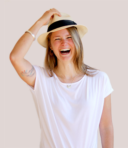 Funny portrait photo of Angela Bode, Service Design Lead at MAKE Studios Melbourne.