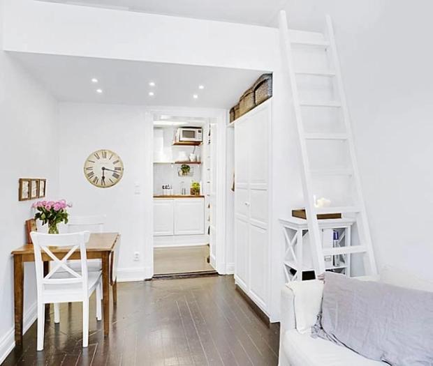 Mẫu dành cho phòng có diện tích lớn đủ để thêm kệ, tủ, bàn ghế