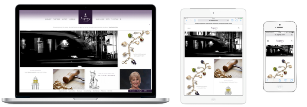 Asprey Responsive Website Design