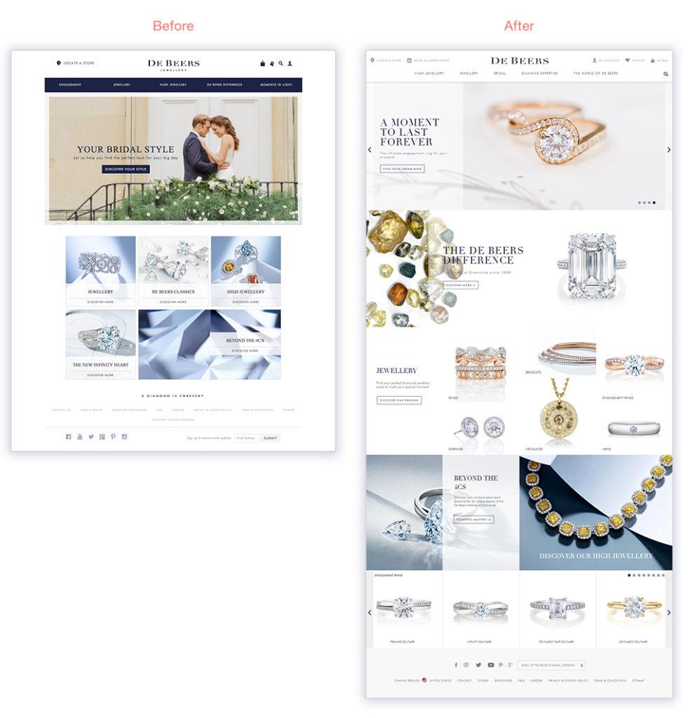 DeBeers Website Redesign