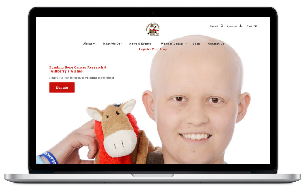charity site desktop