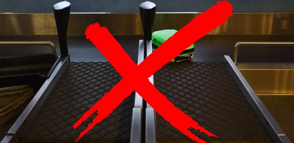 dont use checked baggage