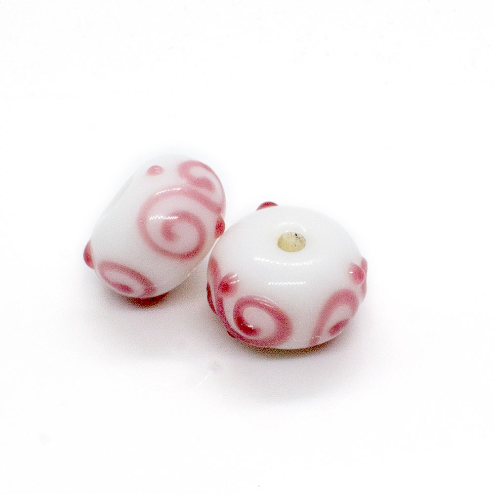 Lampwork Rondelle Beads - 13x8mm